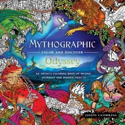 Mythographic Color and Discover: Odyssey Book Cover - Click to open Coming Soon panel