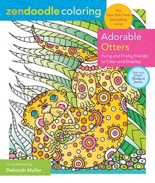 Zendoodle Coloring: Adorable Otters Book Cover - Click to open New Releases panel