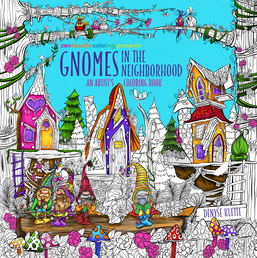 Zendoodle Coloring Presents Gnomes in the Neighborhood Book Cover - Click to open Top Sellers panel