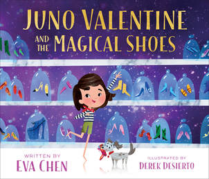 Juno Valentine and the Magical Shoes Book Cover - Click to open Macmillan Kids panel