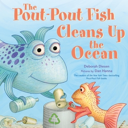 The Pout-Pout Fish Cleans Up the Ocean Book Cover - Click to open Young Listener panel