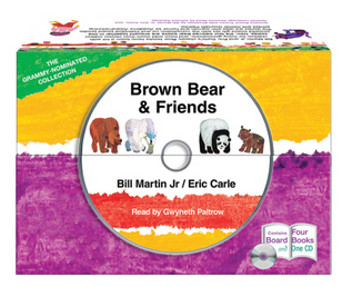 Brown Bear and Friends board book and CD set Book Cover - Click to open Young Listener panel