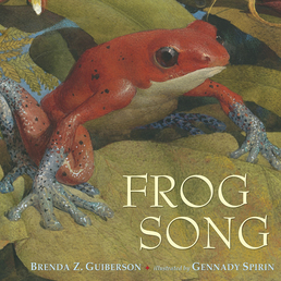 Frog Song Book Cover - Click to open Young Listener panel
