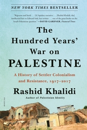 The Hundred Years' War on Palestine Book Cover - Click to open Metropolitan Books panel