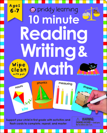 Wipe Clean Workbook: 10 Minute Reading, Writing, and Math (enclosed spiral binding)