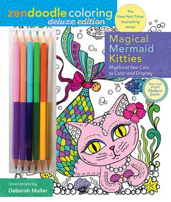 Zendoodle Coloring: Magical Mermaid Kitties