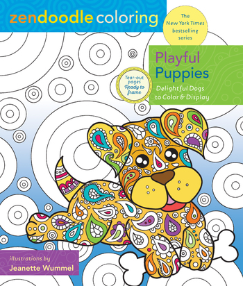 Zendoodle Coloring: Playful Puppies