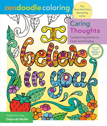 Zendoodle Coloring: Caring Thoughts