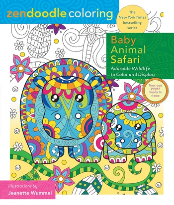 Zendoodle Coloring: Baby Animal Safari