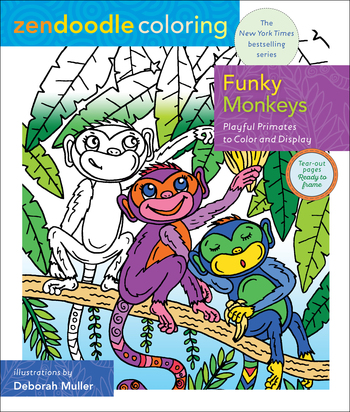 Zendoodle Coloring: Funky Monkeys