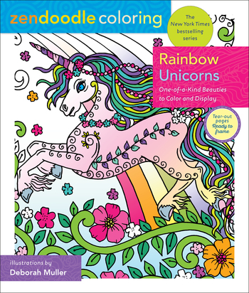 Zendoodle Coloring: Rainbow Unicorns