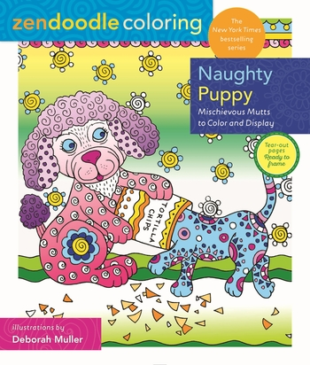 Zendoodle Coloring: Naughty Puppy