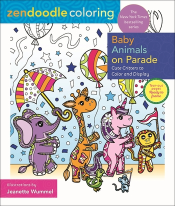 Zendoodle Coloring: Baby Animals on Parade