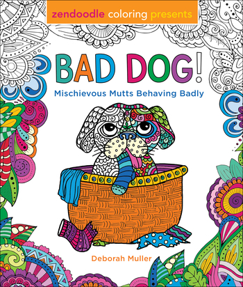 Zendoodle Coloring Presents Bad Dog!